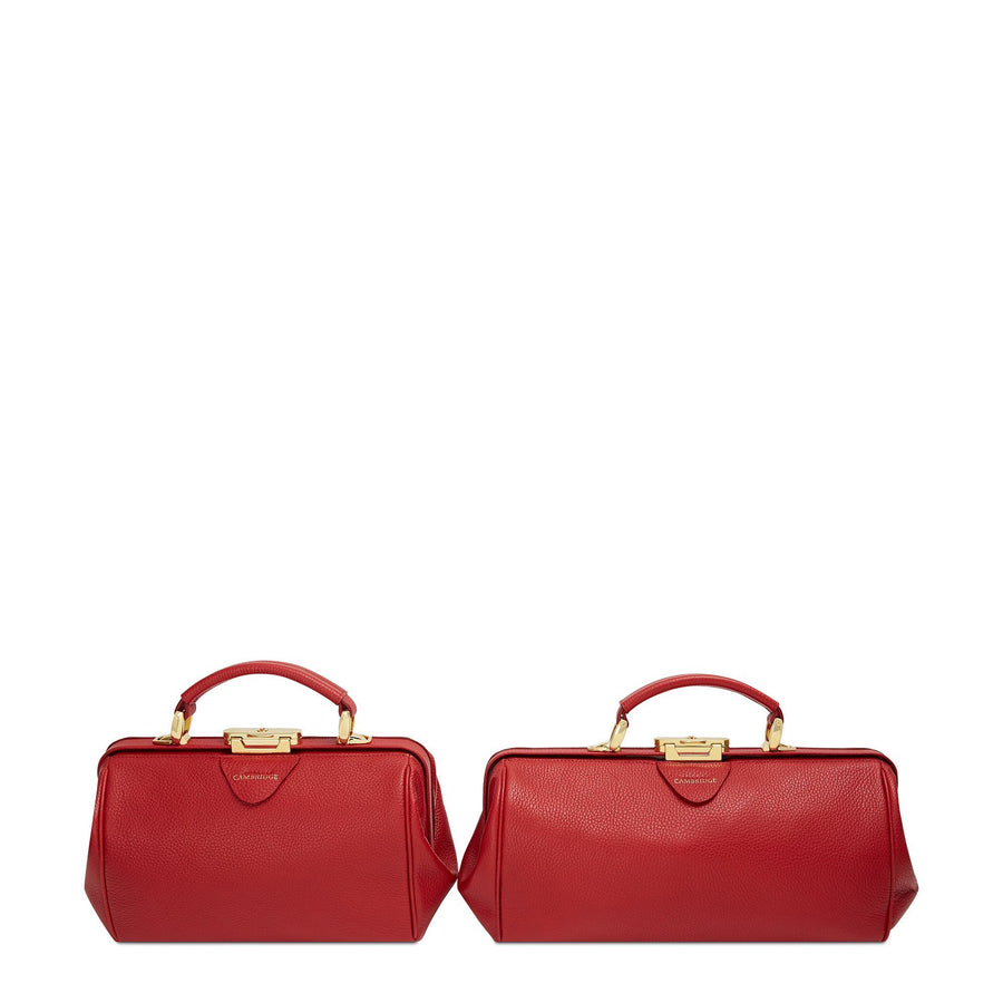 Shanghai Red Cambridge Satchel Leather Doctors Bag