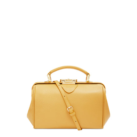 Golden Yellow Calf Grain Sophie Bag Women's Leather Handbag