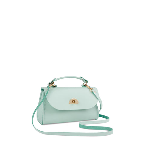 Mini Daisy Bag in Leather - Sweet Pea Blue