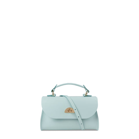 Mini Daisy Bag in Leather - Cambridge Blue - Cambridge Satchel