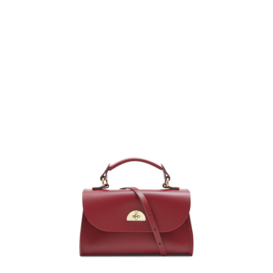 Mini Daisy Bag in Leather - Rhubarb Red