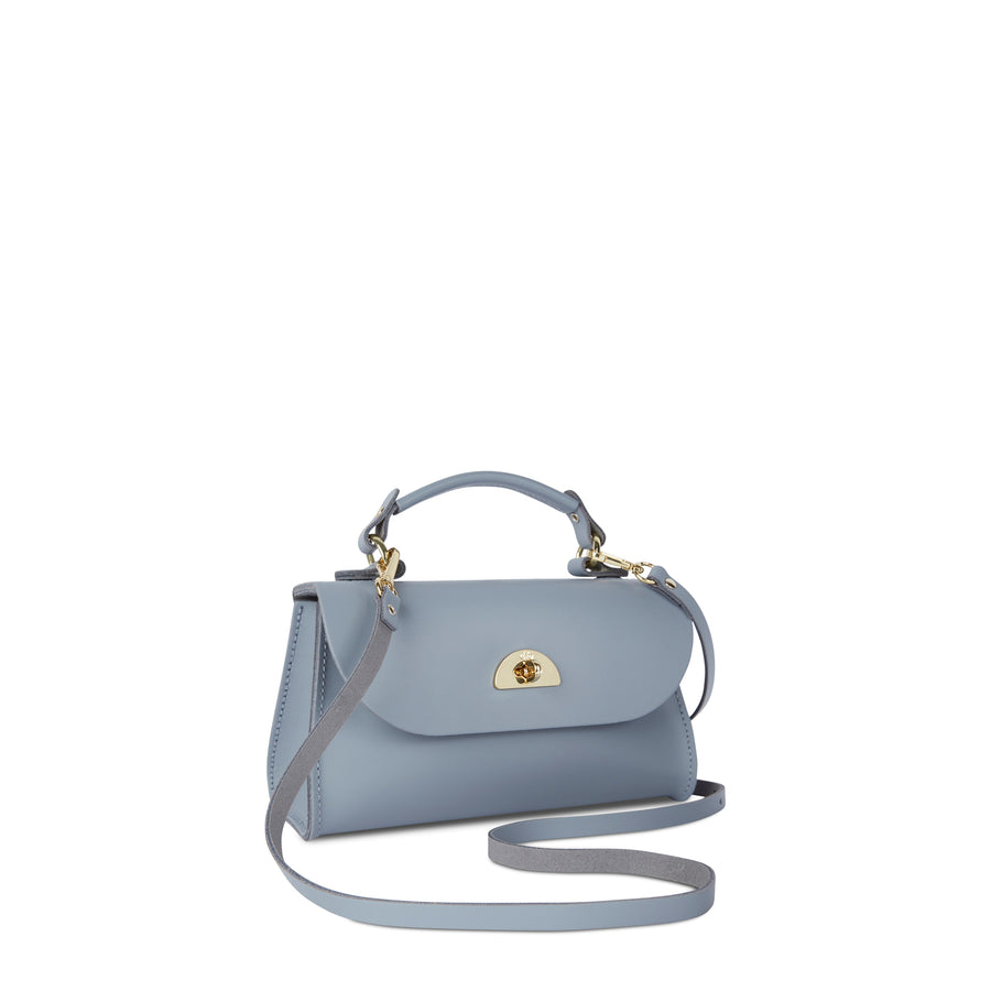 Mini Daisy Bag in Leather - French Grey | Cambridge Satchel