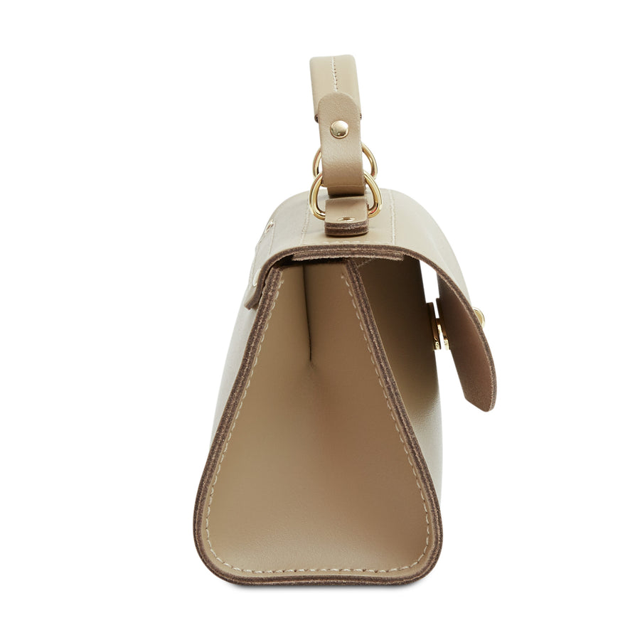Mini Daisy Bag in Leather - Sandstone | Women's Handbag & Cross Body Bag