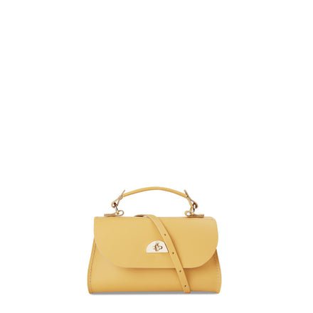 Mini Daisy Bag in Leather - Indian Yellow