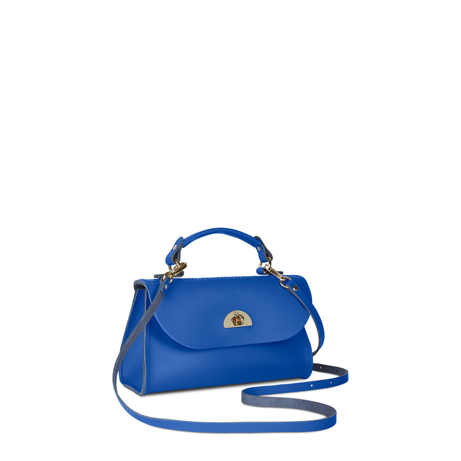 Mini Daisy Bag in Leather - Electric Cornflower Matte