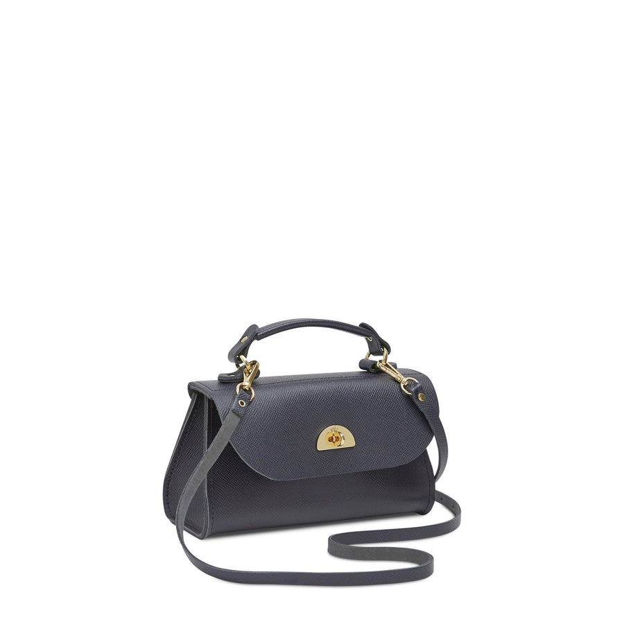 Mini Daisy Bag in Leather - Storm Matte Saffiano