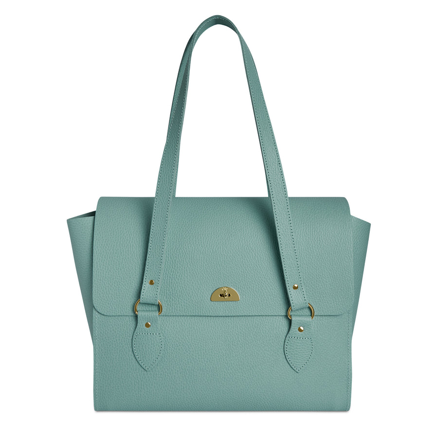 The Emily Tote - Brilliant Sage Matte Celtic Grain