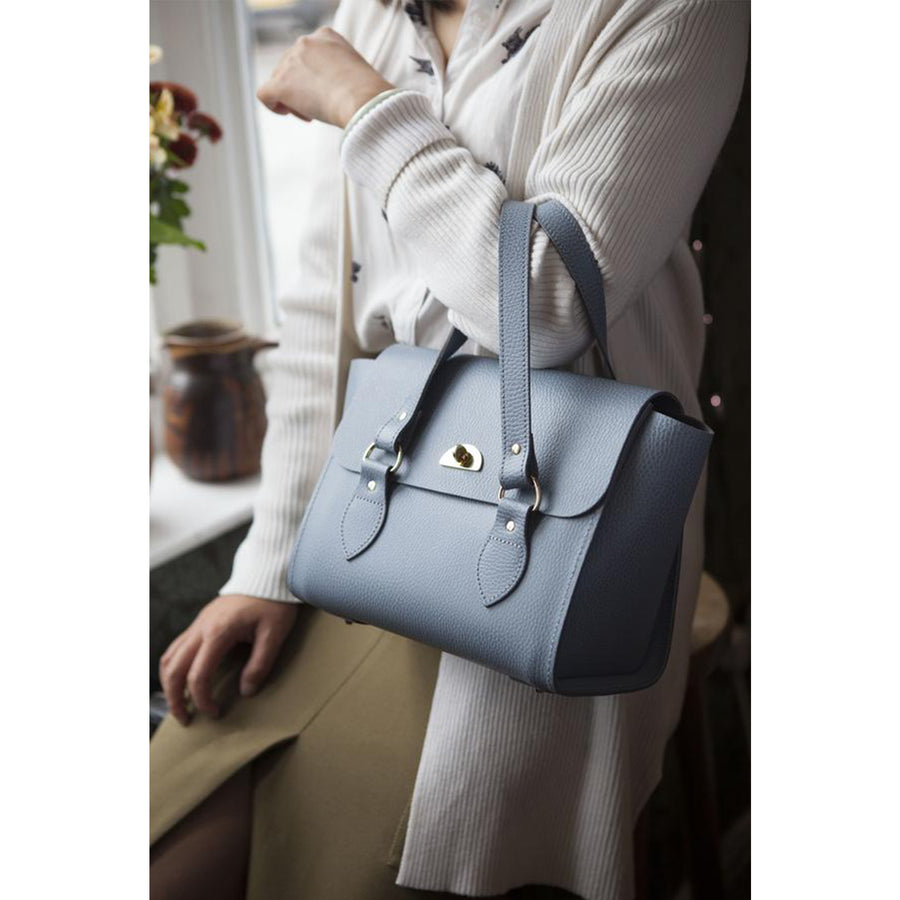Womens - The Small Emily Tote - French Grey Celtic Grain - Cambridge Satchel