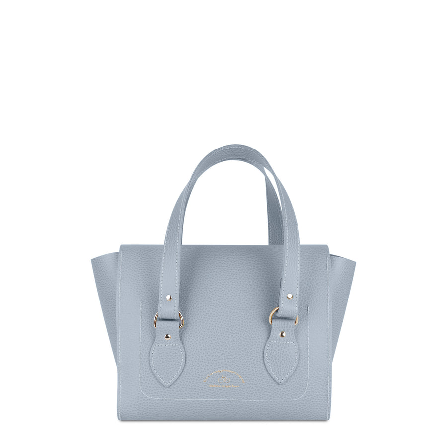 The Small Emily Tote - French Grey Celtic Grain