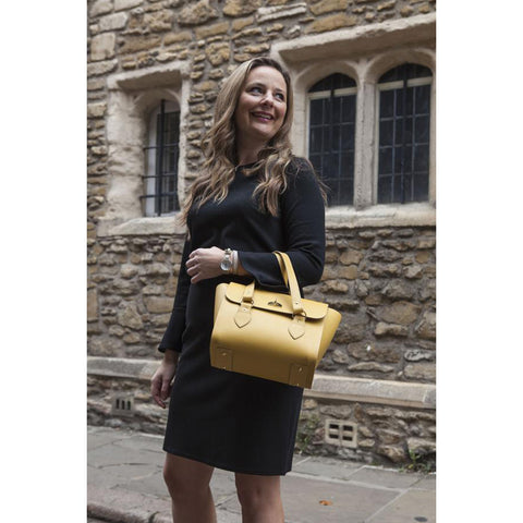 Womens - The Small Emily Tote - Indian Yellow Celtic Grain - Cambridge Satchel