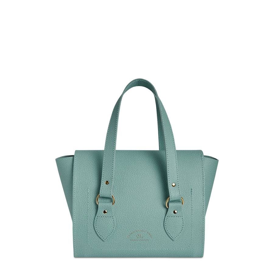 The Small Emily Tote - Brilliant Sage Matte Celtic Grain
