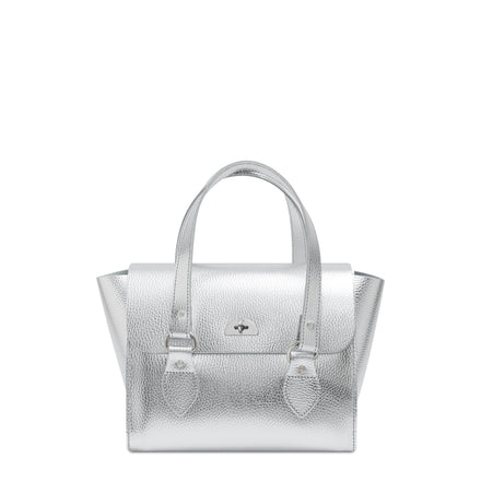 Silver The Cambridge Satchel Company Women's Leather Handbag