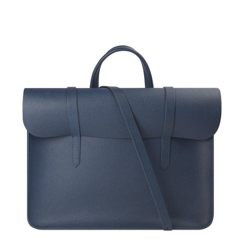 Folio in Saffiano Leather - Peacock