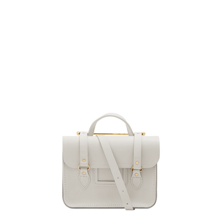 White Leather Cambridge Satchel Company Handbag