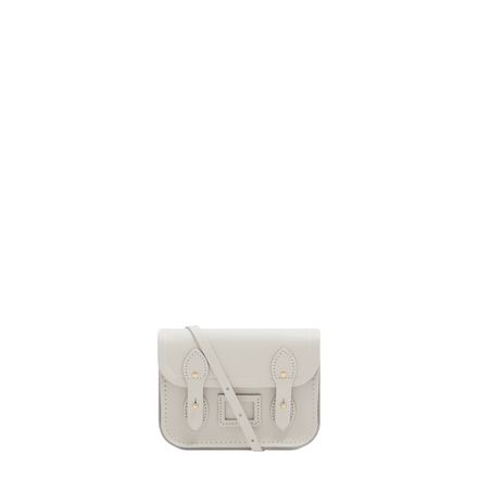 Tiny Satchel in Leather - Lily White