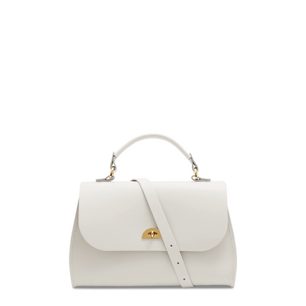 Daisy Bag in Leather - Lily White