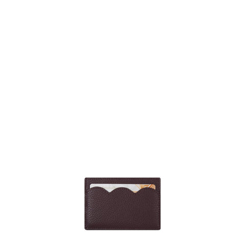 Cloud Card Case in Grain Leather - Oxblood Grain