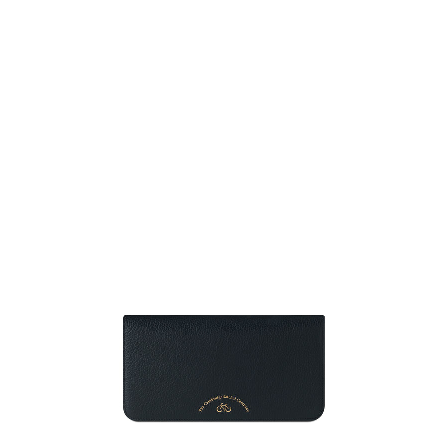 Large Cloud Purse with Card Slots in Grain Leather - Black Grain - Cambridge Satchel