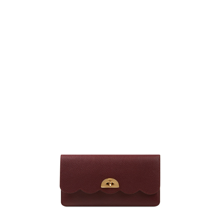 cf8e1a58d Personalise your bag. Large Cloud Purse with Card Slots in Grain Leather -  Oxblood Grain