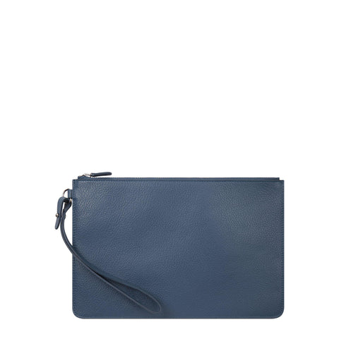 Clutch in Grain Leather - Peacock