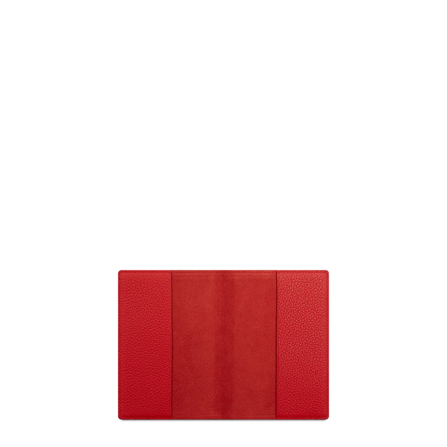 Passport Cover in Leather -  Red Grain