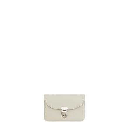 The Cambridge Satchel Company Small Grain Push Lock Purse in Leather - Taupe