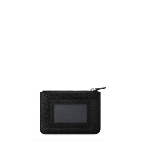 Zip Purse In Grain Leather - Black Grain