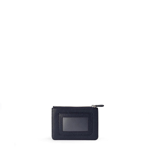 The Zip Purse in Grain Leather - Navy