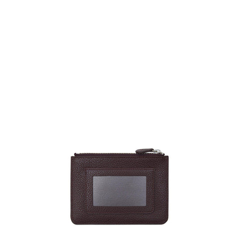 Zip Purse in Grain Leather - Oxblood