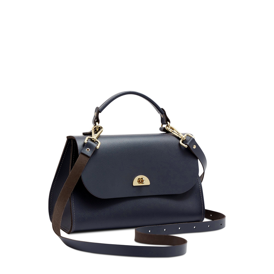 Daisy Bag in Leather - Navy Saffiano