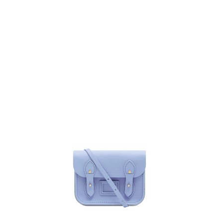 Tiny Satchel in Leather - Bluebell Matte