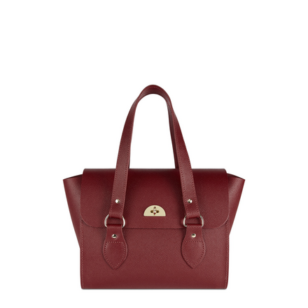 The Small Emily Tote - Rhubarb Red Saffiano