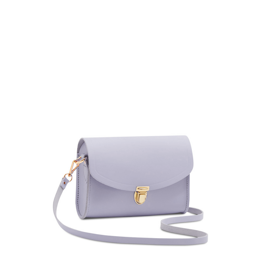 Purple Cambridge Satchel Leather Cross Body & Clutch Bag