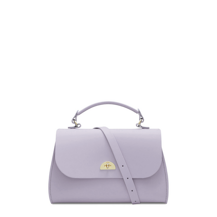 Purple Leather Handbag Cambridge Satchel Cross Body Bag