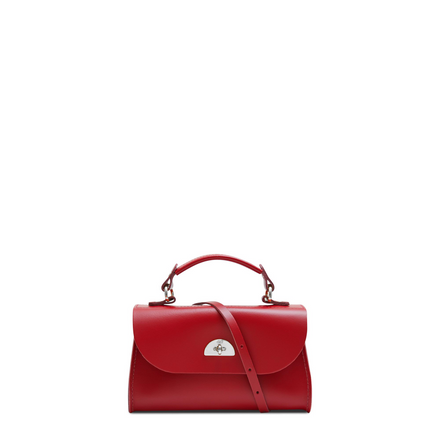 Mini Daisy Bag in Leather - Red
