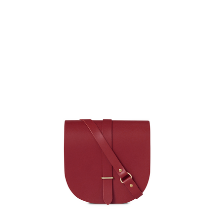 Saddle Bag in Leather - Rhubarb Red