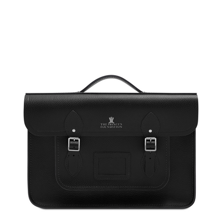 Black Leather Cambridge Satchel Company Princes Foundation Bag