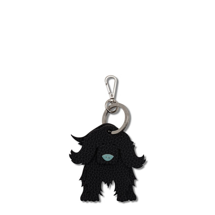 Barnaby the Boxer Dog Keyring in Leather - Vintage & Black | Cambridge Satchel