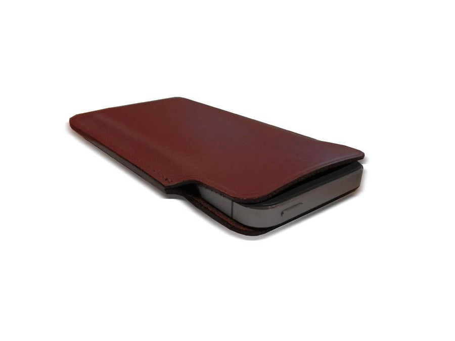 iPhone 5 Case in leather - Oxblood