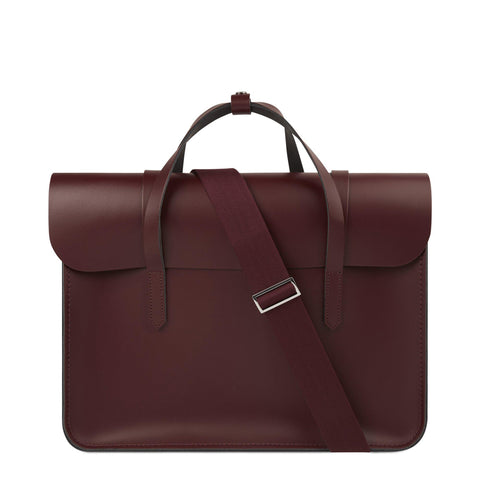 Large Folio in Leather - Oxblood