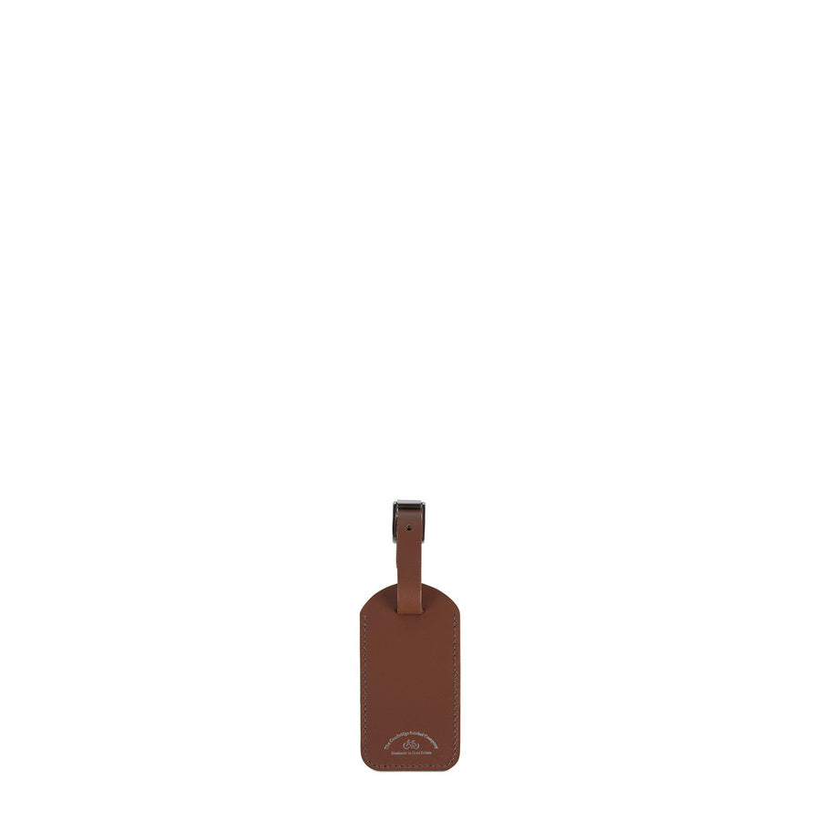 Luggage Tag in Leather - Saddle