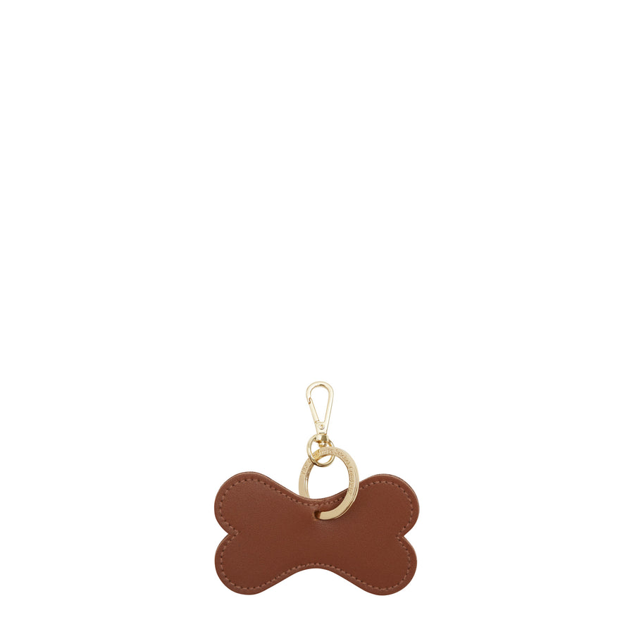 Dog Bone Keyring in Leather - Vintage