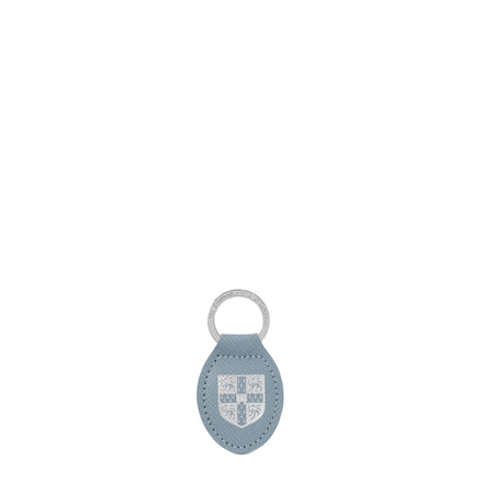 University of Cambridge Keyring in Saffiano Leather - French Grey