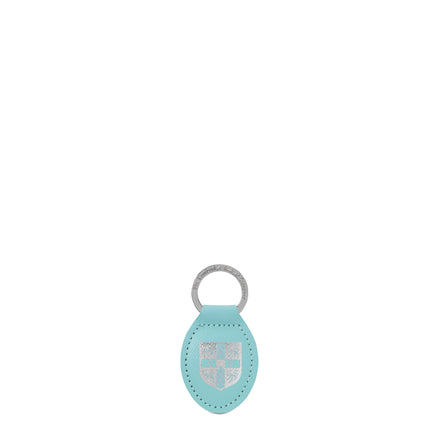 University of Cambridge Keyring in Saffiano Leather - Cambridge Blue