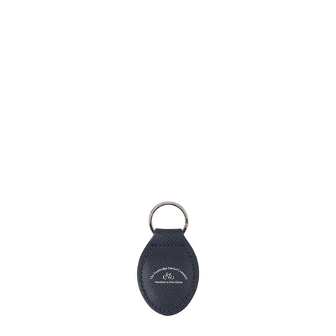 The Keyring in Leather - Navy Saffiano
