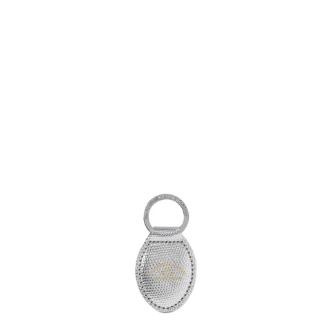The Keyring in Leather - Silver Lizard