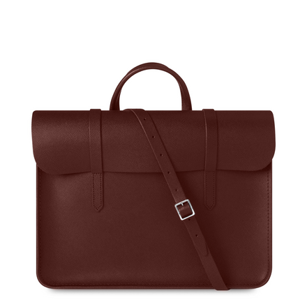 Oxblood Cambridge Satchel Leather Music Case Bag