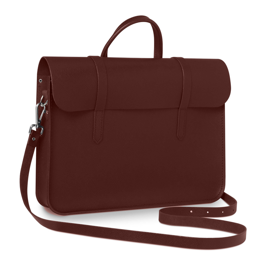 Music Case in Leather - Oxblood Saffiano