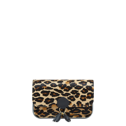 Tassel Clutch Bag - Leopard