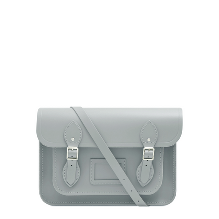 13 inch Magnetic Satchel in Leather - Stone
